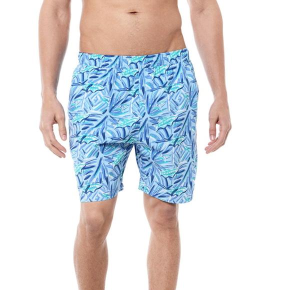 aff8b4ebd3599 Vineyard Vines Men s Batik Fish Chappy Swim Trunks.  M 5b7f0865df0307f5ff2bd942
